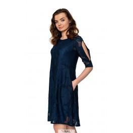 mėlyna varpelio formos suknelė PSR04MM01