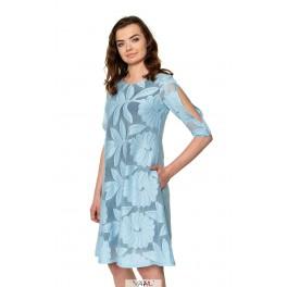 Žydra suknelė varpelio formos PSR04MM02