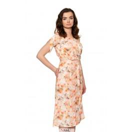 Kreminė susiaučiama suknelė VSL1MKR01
