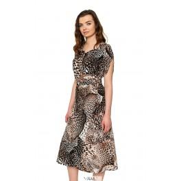 Tigrinė susiaučiama suknelė VSL1MRD01