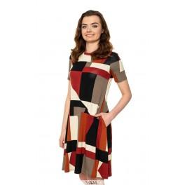 Ruda vasarinė suknelė VSR04MRD01