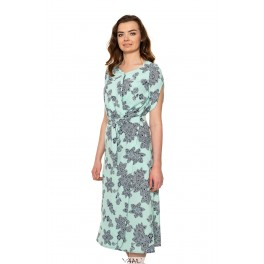 Mėtos spalvos susiaučiama suknelė VSL1MŽ01