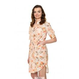 Persikinė susagstoma suknelė VSM1MKR01