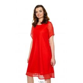 Raudona proginė suknelė varpelio formos PSR04MR01