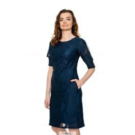 Mėlyna nėriniuota suknelė PSSMM10