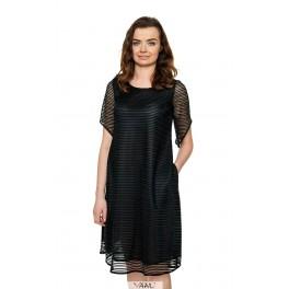 Platėjanti juoda proginė suknelė PSR04MJ01