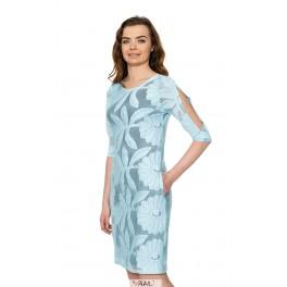 Žydra nėriniuota suknelė PSSMM11