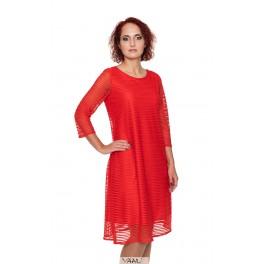 Raudona proginė suknelė linijomis PSR04MR02