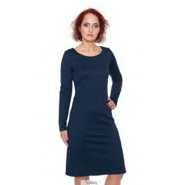 Spausto rašto tamsiai mėlyna suknelė moterims SSMM18