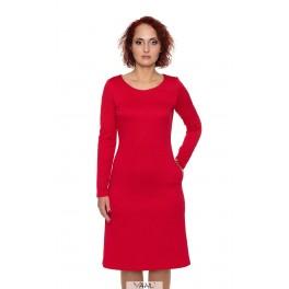 Spausto rašto raudona suknelė  SSMR02