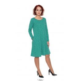 Žalia suknelė su vilna SR04MŽ01