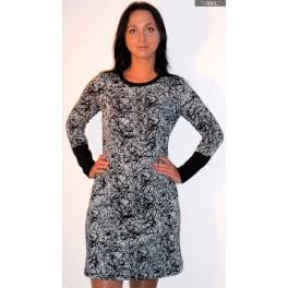 Suknelė juodais rankogaliais, SŽ1MP01