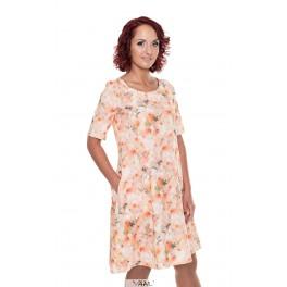 Persikinės spalvos varpelio silueto suknelė VSR04MKR02