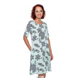 Mėtų spalvos suknelė varpelio silueto VSR04MŽ01