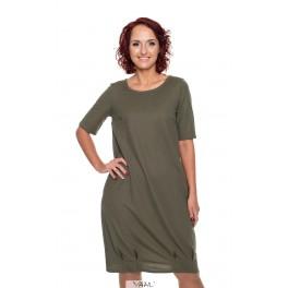 Haki spalvos suknelė VSKUH01