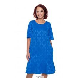 Mėlyna suknelė su volanais apačioje PSVOLM01