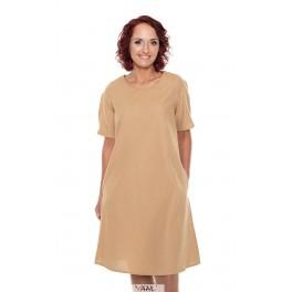 Kreminė medvilnės suknelė VSR04MKR01
