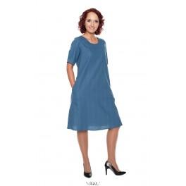Mėlyna medvilnės suknelė VSR04MM02