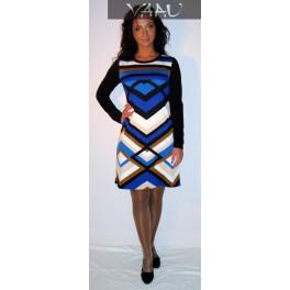 Mėlyna raštuota suknelė, SSMM02