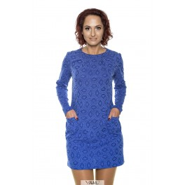 Mėlyna  tunika – suknelė su vilna  TR02MM01