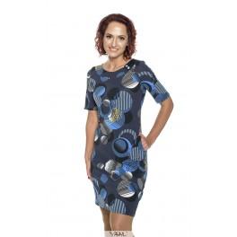 Mėlynų raštų suknelė su sagyte  VSSMM05