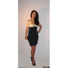 Geltonos su juodais sijonais suknelės, VSOFMG01