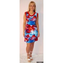 Ryškiaspalvė  suknelė su raudonais pakraštėliais, VS8MMA05