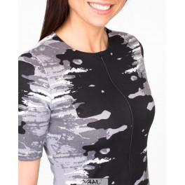 Pilka suknelė su užtrauktuku VSUŽMP01