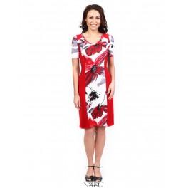 Suknelė raudonais šonais VSRSMR01