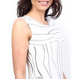 Balta suknelė linijomis, VSV2B01
