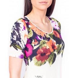 Gėlėta viskozinė suknelė VSPAMMA01