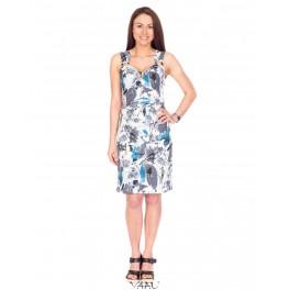 Lininė gėlėta suknelė VSGMMA01