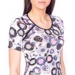 Violetinių raštų suknelė VSV3MA01