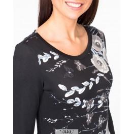 Juodos suknelės su gėlėtais rašais SSMJ02